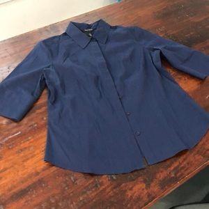White House Black Market navy dress shirt